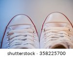 white canvas shoes old vintage... | Shutterstock . vector #358225700