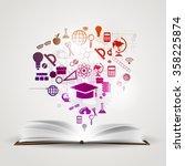 vector background knowledge... | Shutterstock .eps vector #358225874
