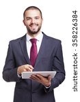 Happy Smiling Businessman With...