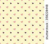 seamless pattern with hearts... | Shutterstock .eps vector #358228448