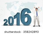 successful overweight...   Shutterstock . vector #358242893