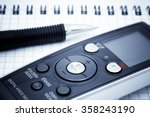 journalist equipment. digital... | Shutterstock . vector #358243190
