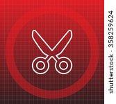 vector scissors line icon | Shutterstock .eps vector #358259624