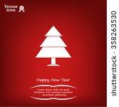 cristmas tree icon | Shutterstock .eps vector #358263530