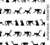 Monkey Black Shadows Silhouette ...
