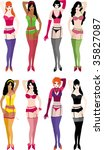 lingerie_collection_set_4... | Shutterstock .eps vector #35827087