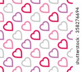 seamless pattern with hearts | Shutterstock .eps vector #358276694