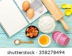 bake background with baking... | Shutterstock . vector #358278494