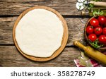 Pizza Dough With Tomatoes  And...