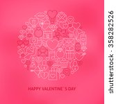 thin line valentine day icons... | Shutterstock .eps vector #358282526