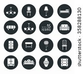 set of 15 furniture isolated... | Shutterstock .eps vector #358288130