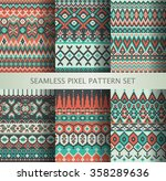 collection of pixel colorful... | Shutterstock .eps vector #358289636
