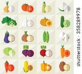set of vegetables illustration | Shutterstock . vector #358289978