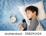 six years old child sleeping in ... | Shutterstock . vector #358291424