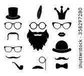 vector set of hipster elements  ... | Shutterstock .eps vector #358297280