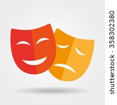 mask icon theater icon with... | Shutterstock .eps vector #358302380