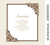 vintage gold background  vector ...   Shutterstock .eps vector #358305503