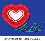 love heart vector illustration... | Shutterstock .eps vector #358306688