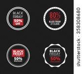 black friday labels   Shutterstock .eps vector #358308680