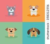 cute cartoon dogs | Shutterstock .eps vector #358312556