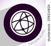 global technology or social... | Shutterstock .eps vector #358314824