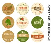 set of fresh organic label and... | Shutterstock .eps vector #358315109