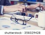 business concept  working in... | Shutterstock . vector #358329428