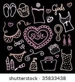 female love for fashion... | Shutterstock .eps vector #35833438