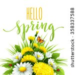 fresh spring background with... | Shutterstock .eps vector #358337588
