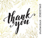 thank you golden  lettering... | Shutterstock .eps vector #358337663