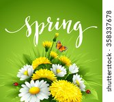 fresh spring background with... | Shutterstock .eps vector #358337678