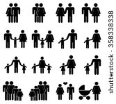 family icons set | Shutterstock .eps vector #358338338