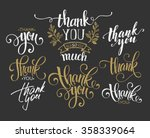 set of custom thank you hand... | Shutterstock .eps vector #358339064