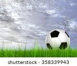 concept or conceptual 3d soccer ...   Shutterstock . vector #358339943