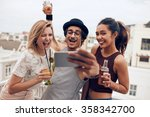 small group of friends taking... | Shutterstock . vector #358342700