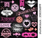chalkboard valentine's day... | Shutterstock .eps vector #358356899