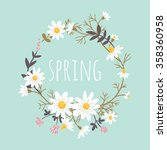 chamomile. floral background