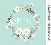 chamomile. floral background | Shutterstock .eps vector #358360958