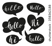speech bubbles with hello word. ... | Shutterstock .eps vector #358362188