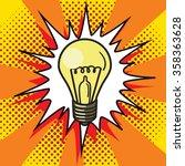 light bulb lamp pop art style... | Shutterstock .eps vector #358363628