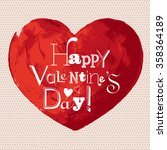 valentines day hand painted... | Shutterstock .eps vector #358364189