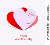 happy valentin's day | Shutterstock .eps vector #358365083