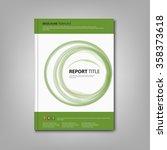 brochures book or flier with... | Shutterstock .eps vector #358373618