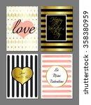 vector set saint valentines day ...   Shutterstock .eps vector #358380959