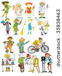 people of different professions ... | Shutterstock .eps vector #35838463