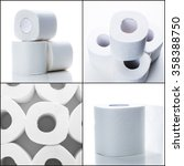 toilet paper collage  | Shutterstock . vector #358388750