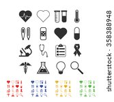medical icons | Shutterstock .eps vector #358388948