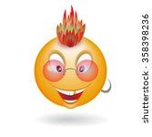 vector smiley punk | Shutterstock .eps vector #358398236