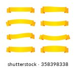 set of yellow ribbon banners.... | Shutterstock .eps vector #358398338
