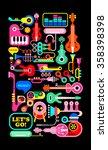 musical vector composition.... | Shutterstock .eps vector #358398398